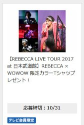 「REBECCA X wowow」のカラーTシャツ